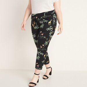Old Navy Black Safari Print Ankle Pixie Pants 14